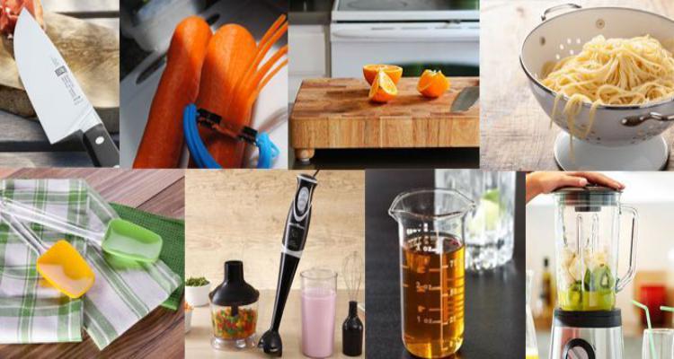Utensílios necessários que não podem faltar numa cozinha