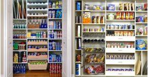 Como organizar a comida numa dispensa